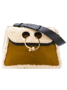 сумка-тоут с кожаной окантовкой Pierce J.W.Anderson