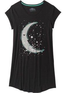 Ночная сорочка (антрацитовый/серый с рисунком) Bonprix