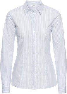 Блузка (синий жемчуг/белый в полоску) Bonprix