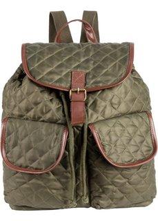Стеганый рюкзак (темно-оливковый) Bonprix