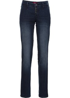 Стрейчевые джинсы-чино, cредний рост (N) (темно-синий) Bonprix