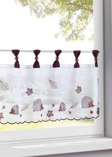 Кухонная штора Еж (белый/коричневый) Bonprix