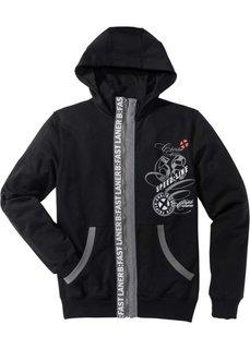 Трикотажная куртка SlimFit (черный) Bonprix