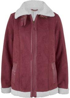 Куртка-дубленка из искусственной овчины (кленово-красный) Bonprix