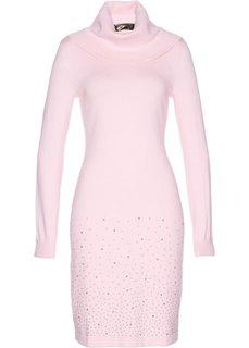 Вязаное платье (розовая пудра) Bonprix