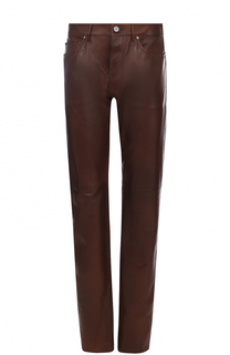 Кожаные брюки прямого кроя CALVIN KLEIN 205W39NYC