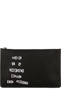 Текстильный несессер на молнии с аппликацией Valentino
