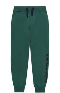 Спортивные брюки с эластичными манжетами и аппликацией Fendi Roma