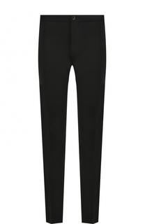 Шерстяные брюки прямого кроя с разрезами Versace