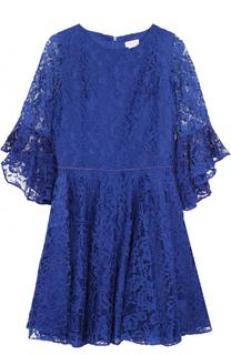 Кружевное платье с отделкой из страз David Charles