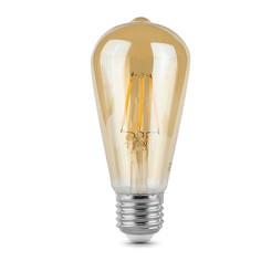 Лампочка Gauss LED Filament ST64 E27 6W Golden 2400К 102802006