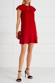 Платье с воланами Red Valentino