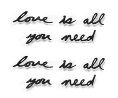 Надпись декоративная love is all you need (umbra) черный 27.0x8.0x2.0 см.