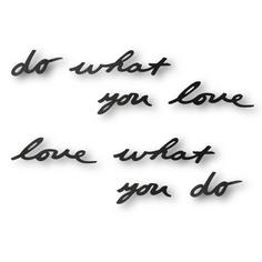 Надпись декоративная do what you love (umbra) черный 31x7x7 см.