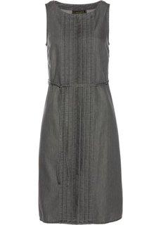 Джинсовое платье (серый деним) Bonprix