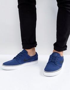 Темно-синие кроссовки Nike SB Stefan Janoski 333824-409 - Темно-синий
