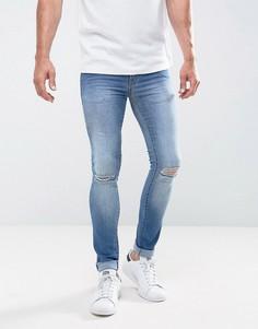 Светлые джинсы скинни с рваной отделкой Loyalty and Faith Siret - Синий