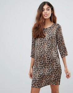 Платье с леопардовым принтом Vero Moda - Мульти