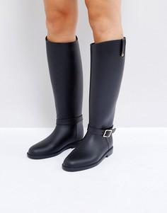 Резиновые сапоги в жокейском стиле ASOS GRANGE - Черный