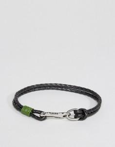 Зеленый двойной кожаный браслет Ted Baker - Зеленый