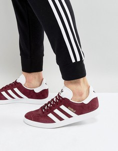 Бордовые кроссовки adidas Originals Gazelle BB5255 - Красный