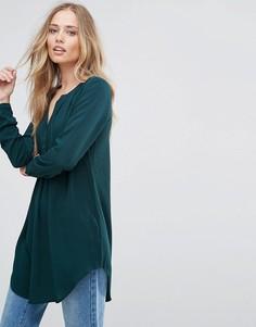 Длинная рубашка-туника Only Nova - Зеленый