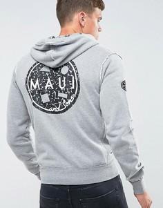 Худи на молнии с принтом Maui Evolution - Серый