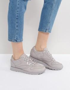 Серые кожаные классические кроссовки Reebok Pellegrine - Серый