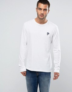 Белый лонгслив классического кроя с логотипом Penfield Copley - Белый