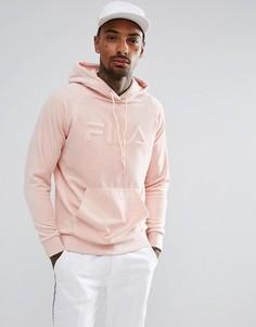 Худи из велюра розового цвета с логотипом в стиле ретро Fila Black - Розовый