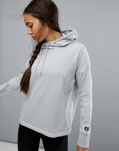 Худи из флиса серого цвета adidas Reigning Champ - Серый