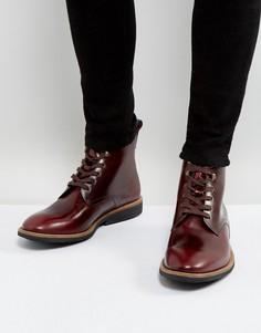 Темно-бордовые ботинки со шнуровкой PS by Paul Smith Hamilton - Красный