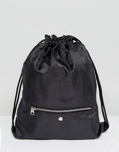 Сумка на затягивающемся шнурке с карманом на молнии Cheap Monday - Черный
