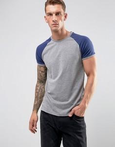 Серая обтягивающая футболка YOURTURN - Белый
