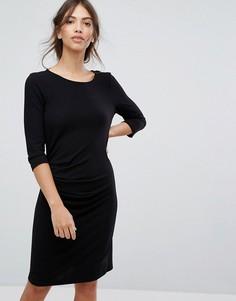 Облегающее трикотажное платье Vila - Черный