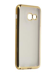 Аксессуар Чехол-накладка Samsung Galaxy A3 (2017) SkinBox Silicone Chrome Border 4People Gold T-S-SGA32017-008