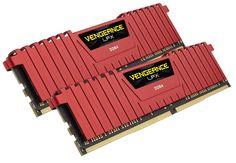 Модуль памяти Corsair Vengeance LPX Red DDR4 DIMM 2666MHz PC4-21300 CL16 - 32Gb KIT (2x16Gb) CMK32GX4M2A2666C16R