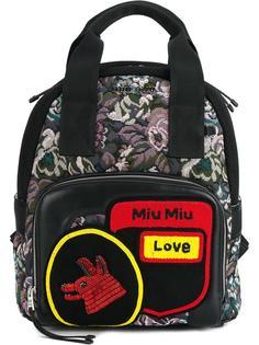 жаккардовый рюкзак Miu Miu