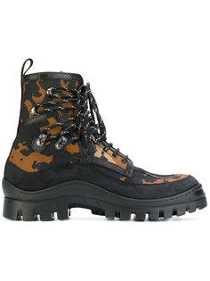 ботинки с камуфляжным принтом Dsquared2