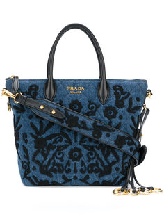 джинсовая сумка с вышивкой Prada