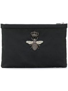 клатч с элементом пчелы Dolce & Gabbana