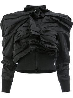 асимметричная куртка с оборками  Yohji Yamamoto