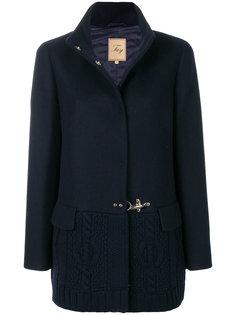 трикотажное пальто с контрастной отделкой  Fay