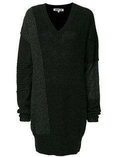платье-джемпер в стиле пэчворк  McQ Alexander McQueen