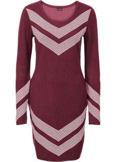 Вязаное платье (бордовый) Bonprix