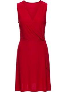 Платье с золотистым кольцом (красный) Bonprix