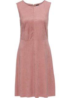 Платье из искусственной замши (розовый) Bonprix