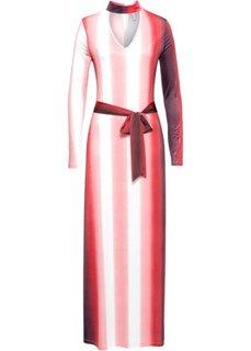 Платье с принтом (красный/белый с рисунком) Bonprix