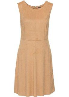 Платье из искусственной замши (светло-коньячный) Bonprix
