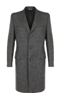 Однобортное шерстяное пальто с отложным воротником Canali